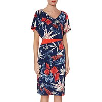 Gina Bacconi Larisa Exotic Print Dress, Navy