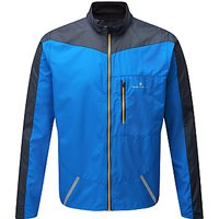 Ronhill Stride Windspeed Men's Running Jacket, Electric Blue/Charcoal