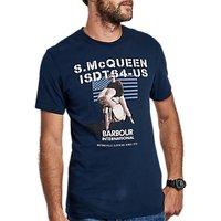 Barbour International Military Flag Graphic Print T-Shirt