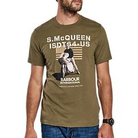 Barbour International Military Flag Graphic Print T-Shirt