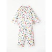 John Lewis Floral Pyjama Top and Bottoms Set, Multi