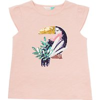 John Lewis Girls' Sequin Toucan T-Shirt, Pink