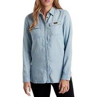 Barbour International Track Denim Shirt, Bleach Wash
