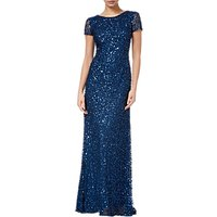Adrianna Papell Scoop Back Sequin Evening Dress