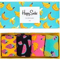 Happy Socks Fruit Gift Box, One Size, Pack of 4, Multi