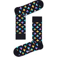Happy Socks Pyramid Socks, One Size, Black/Multi