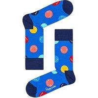 Happy Socks Smile Socks, One Size, Blue/Multi