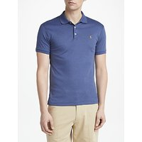 Polo Ralph Lauren Slim Fit Polo Shirt, Navy Heather