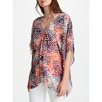 NYDJ Printed Kaftan Top, Multi