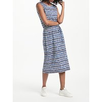 Collection WEEKEND by John Lewis Striped Midi Jersey Dress, Navy/Blue/White