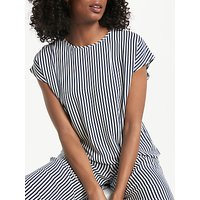 Collection WEEKEND by John Lewis Vertical Stripe Top, Navy/White