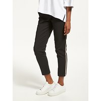 Maison Scotch Tailored Side Tape Stretch Trousers, Black