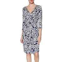 Gina Bacconi Kirstie Floral Jersey Dress, Navy