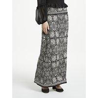 Max Studio Printed Jersey Maxi Skirt, Black