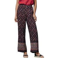East Ajrak Print Trousers, Indigo