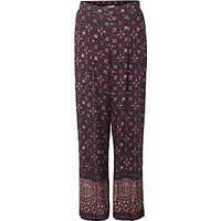 East Ajrak Print Trousers, Indigo