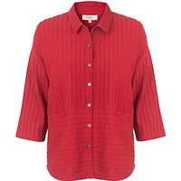 East Pintuck Detail Pocket Shirt, Red