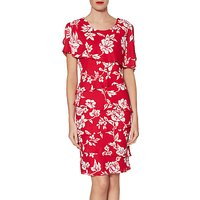 Gina Bacconi Esme Tiered Floral Print Dress, Cherry