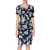 Gina Bacconi Esme Tiered Floral Print Dress