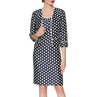 Gina Bacconi Beverly Spot Print Dress And Jacket