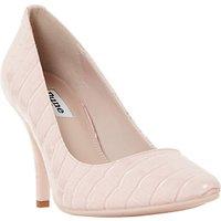 Dune Aeryn Stiletto Heeled Court Shoes, Blush