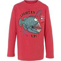 Fat Face Boys Glow-in-the-Dark Lighten Up T-Shirt, Red