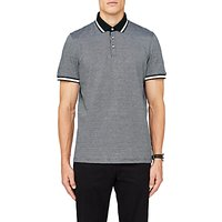 Ted Baker Poodal Textured Polo Shirt, Dark Green