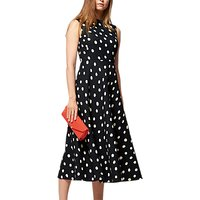 L.K. Bennett Marlina Spot Dress, Black/White