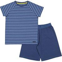 Polarn O. Pyret Childrens' Pyjamas Shorts Set, Blue