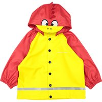 Polarn O. Pyret Baby Raincoat, Yellow/Red, 12-24 months