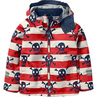 Mini Boden Boys' Jersey Lined Anorak Coat, Red