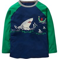 Mini Boden Boys' Glow In The Dark Pirate Shark T-Shirt, Navy
