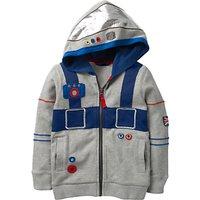 Mini Boden Boys' Astronaut Hoodie, Grey