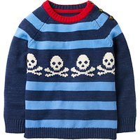 Mini Boden Boys' Stripe Graphic Jumper, Navy