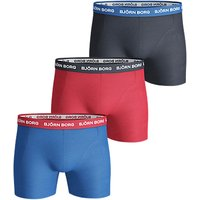 Björn Borg Noos Contrast Waistband Trunks, Pack Of 3, Blue/red/black