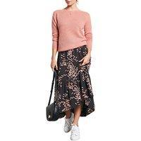 hush Veria Dragonfly Print Skirt, Black/Pink