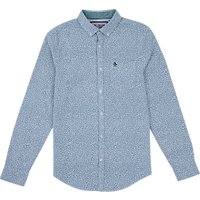 Original Penguin Long Sleeve Floral Shirt, Dresden Blue
