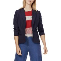 Brora Tailored Jersey Jacket, French Navy