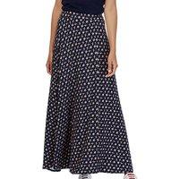 Brora Liberty Print Maxi Skirt, Navy Bird