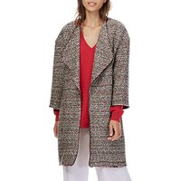 Brora Chevron Textured Jacket, Charcoal/Scarlet