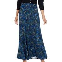 Brora Liberty Print Maxi Skirt, Indigo Jungle