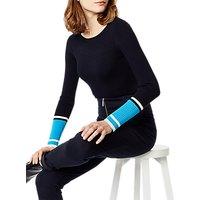 Karen Millen Colourblock Ribbed Jumper, Blue/Multi