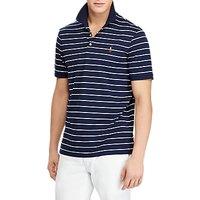 Polo Ralph Lauren Slim Fit Polo Top, French Navy/White