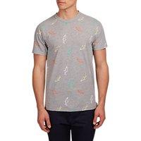 HYMN School Shark Graphic T-Shirt, Grey