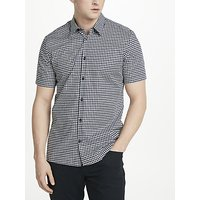 J.Lindeberg Daniel Short Sleeve Houndstooth Shirt, White