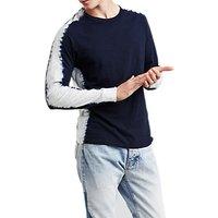 Levis Made & Crafted Long Sleeve Raglan T-Shirt, Shibori Indigo