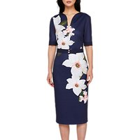 Ted Baker Izeebel Chatsworth Bloom Dress, Navy