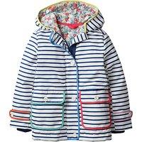 Mini Boden Girls' Printed Anorak Coat, Navy