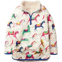 Mini Boden Girls' Reversible Teddy Sweatshirt, Pink/Multi