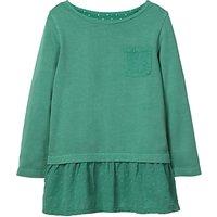 Mini Boden Girls' Floaty Jersey Top, Green